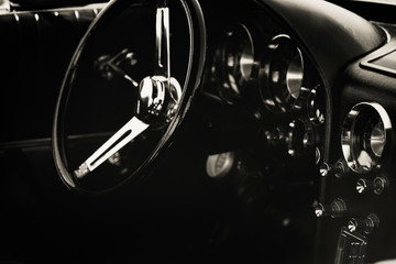 Fotomurales - dashboard of classic car