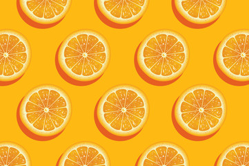 Slices of fresh orange summer background. Fotomurales