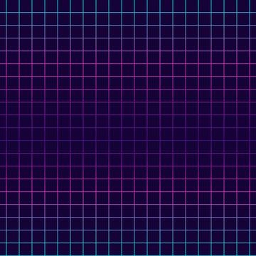Geometric net seamless pattern. Vaporwave, retrowave, cyberpunk aesthetics. Futuristic digital vector wallpaper. Pink, cyan, purple laser grid background.