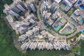 Wall Mural - Aerial view of Residential, Chai Wan, Hong Kong
