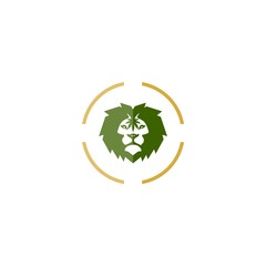 Lion marijuana leaf logo