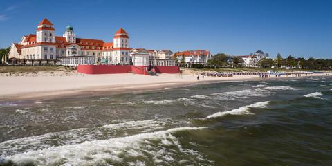 Panorama Ufer und Promenade Binz an der Ostsee auf Rügen