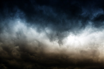 Dramatic Clouds Background Wall mural