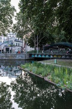 Urban Water Reflections Saint Martin Paris France