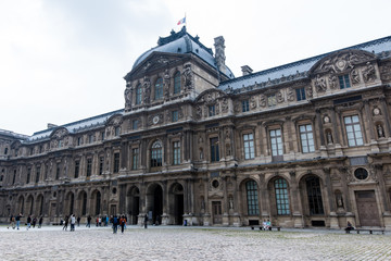 Baroque Architecture of Louvre Museum Paris France