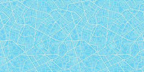 Urban vector city map seamless texture Fotomurales