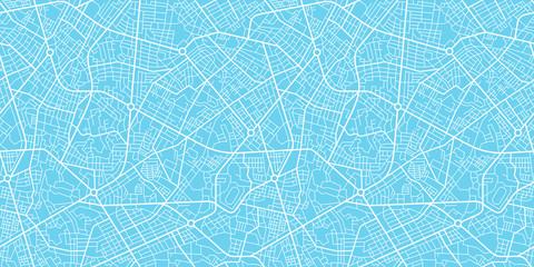 Urban vector city map seamless texture Wall mural