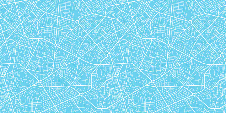 Urban vector city map seamless texture