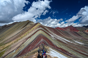 Poster South America Country Rainbow mountain