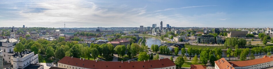 Printed roller blinds Xian Panorama of the city Vilnius, Lithuania