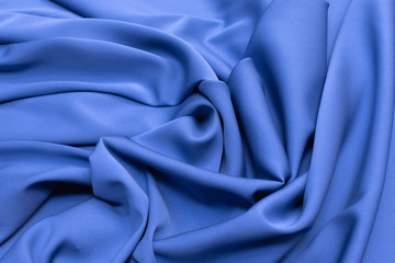 Crepe de Chine silk in light blue with artistic layout