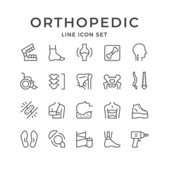 Set line icons of orthopedics