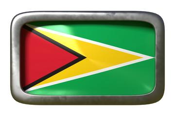 Republic of Guyana flag sign
