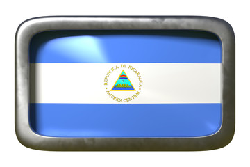 Nicaragua flag sign