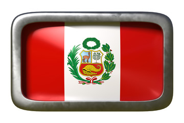 Peru flag sign