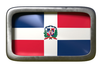 Dominican Republic flag sign
