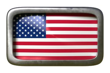 USA flag sign