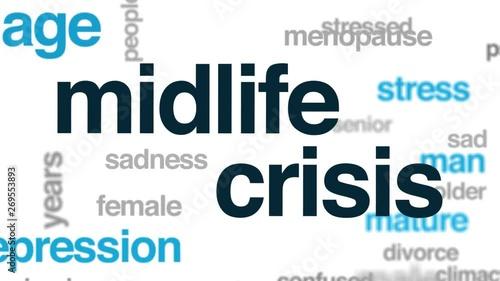 Midlife crisis word cloud
