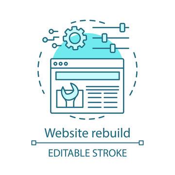 Website rebuild concept icon