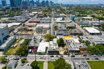 Aerial image of Wynwood Miami FL USA Wall mural