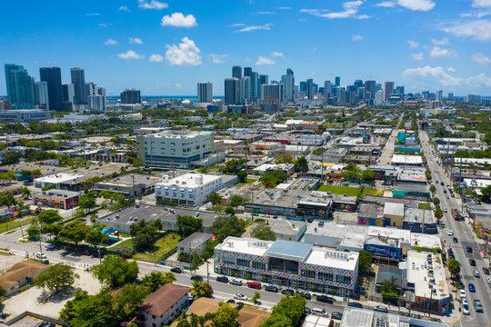 Aerial image of Wynwood Miami FL USA