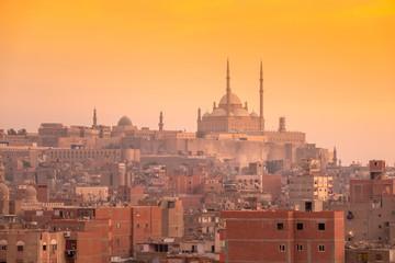 sunset scenery at Cairo Egypt Papier Peint