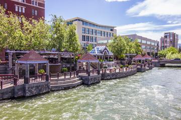 River Walk Pavilions in Downtown Reno