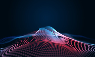 Modern wave effect 3d colorful background