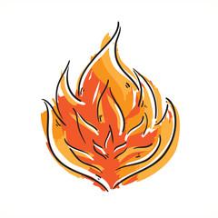 Cartoon flame icon