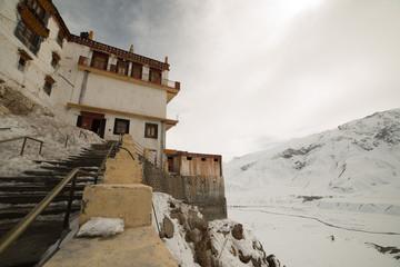 Photo sur Aluminium Key gompa tibetan monastery in Himalayas. Spiti valley, Himachal Pradesh, India