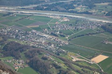 Luftbildaufnahme von einem Industriegebiet