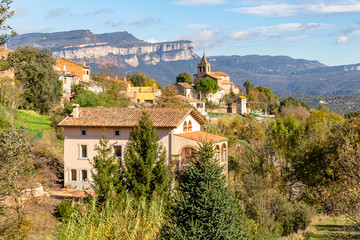 View of the village of Vialanova de Sau