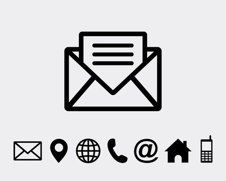 Mail Icon Symbols vector icon for