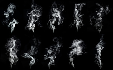 Fotobehang Rook A large amount of smoke is taken with many options available in various graphic