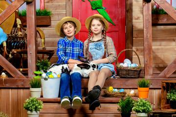 kids in village