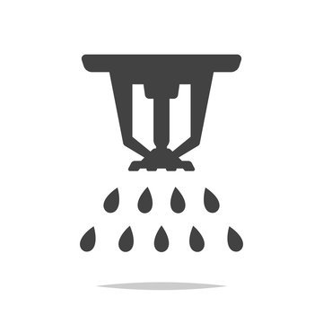 Fire sprinkler icon vector isolated