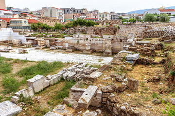 Fototapete - Library of Hadrian in Athens, Greece