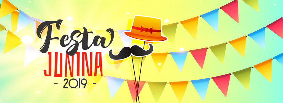 celebration banner for festa junina 2019