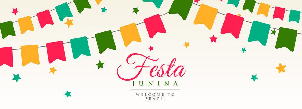 festa junina flags garland decoration banner