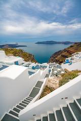 Tuinposter Santorini Santorini Island, Greece, one of the most beautiful travel destinations of the world.