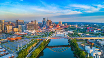 Nashville, Tennessee, USA Skyline Aerial Wall mural