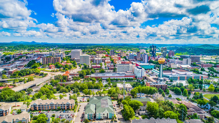 Downtown Knoxville, Tennessee, USA Skyline Aerial Wall mural