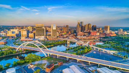 Downtown Nashville, Tennessee, USA Aerial Fototapete