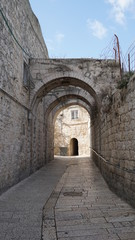 Fototapeta Street of the old Jerusalem in Israel.