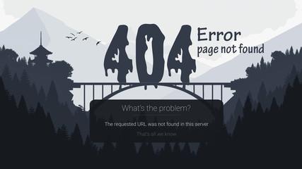 Garden Poster Retro sign 404 error. page not found design.