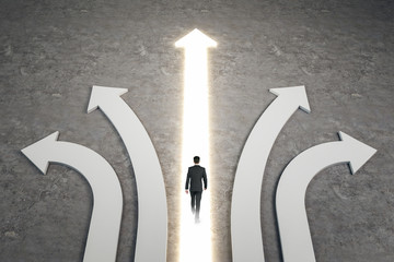 Different direction and success concept