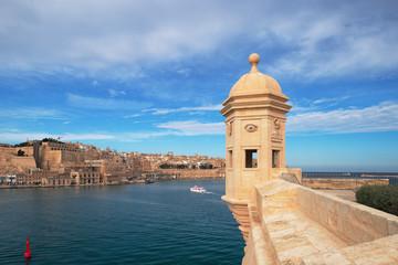 View to Valletta from Senglea, Malta