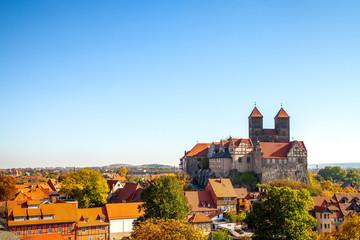 Quedlinburg, Münzenberg, Schloss und Kirche