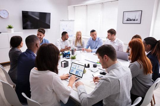 Multi Ethnic Business People Having Business Meeting