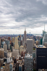 Garden Poster New York USA. New York. May 2019: View from the top.American aerial landscape with usa. Manhattan - New York City Aerial view. Midtown manhattan. Panoramic view. City financial district. New York skyline - USA